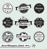 Vector Set: Soccer Champs Labels