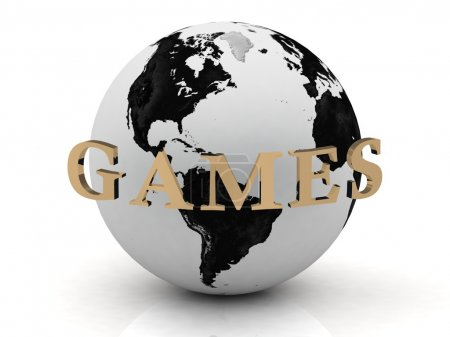 GAMES abstraction inscription around earth