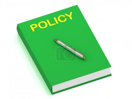 POLICY name on cover book