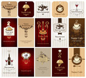 Cards on food and drink