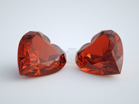 Couple of Heart Rubies