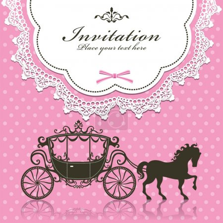 Vintage Luxury carriage invitation design