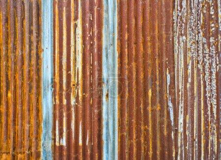 Corrugated metal wall