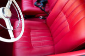 Shiny red Car leather seats
