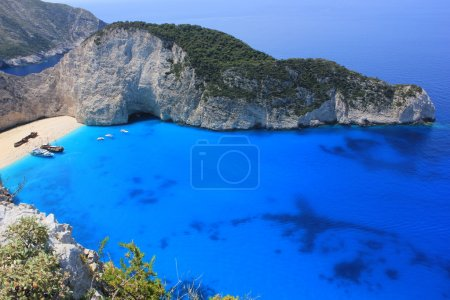 Boat trip to Navajo beach, Zakynthos island, Greece