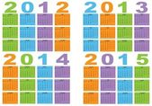 Kalendář 2012 až 2015