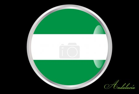 Flag of Andalucia in button