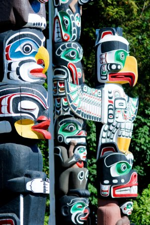 Stanley Park, Totem Poles - Vancouver, Canada