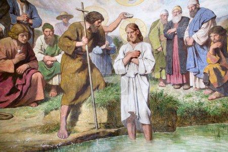 peindre du baptistère de l'église de Vienne de st. Alphonse