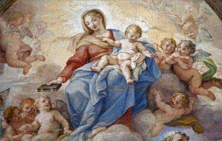 Rome - detail of holy Mary paint from Santa Maria degli Angeli basilica