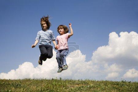 Jump of sisters