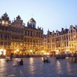 Brussels - The main square and Town hall in evenin...