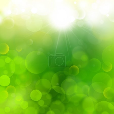 Photo for Green background Airmar 2,light bokeh,more bubbles,no mesh,advertising,product,business,presentation,powerpoint, - Royalty Free Image