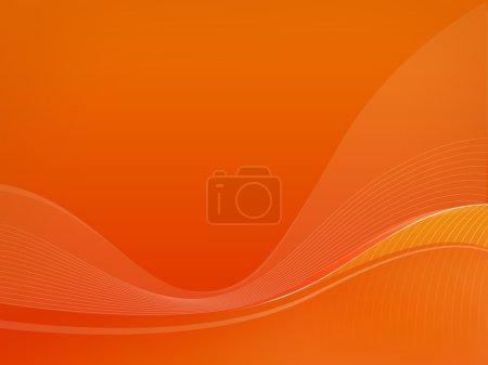Orange wavelet background Dizzy-F, fullcolor