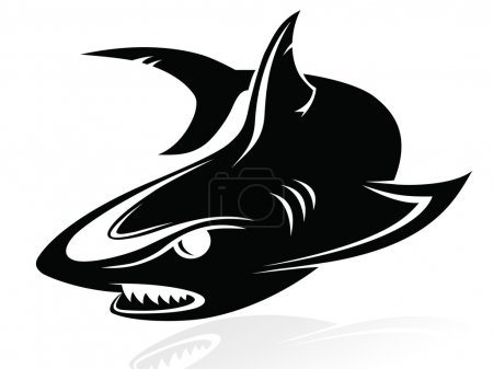 The vector image of a shark - logo,sign,vector,icon