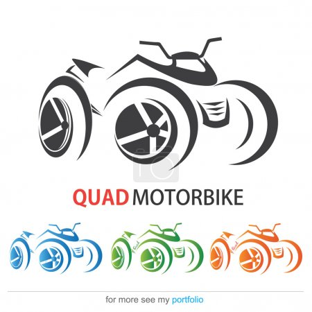 Quad MotorBike, Vector, Sign, Symbol