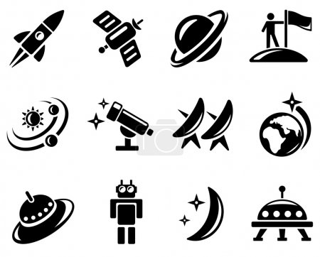 Photo for Space icon set - Royalty Free Image