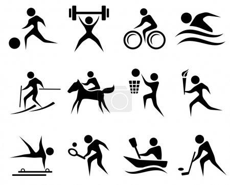 Photo pour Ensemble d'icônes sport - image libre de droit