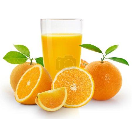 Photo pour Jus d'orange et fruits d'orange - image libre de droit