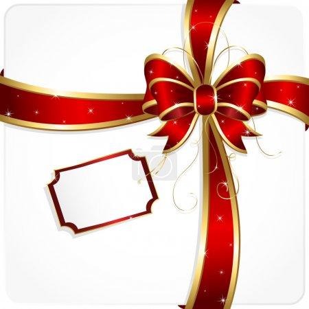 Illustration for Holiday bow and ribbon, illustration - Royalty Free Image