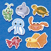 Cute sea animal stickers 03
