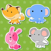 Cute animal stickers 04