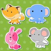 Cute animal stickers 04