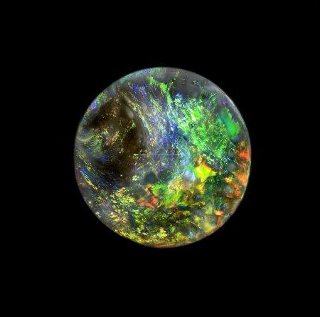 Round shape opal gem stone, like planet Earth