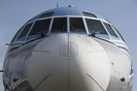Huge, old, superannuated plane's nose