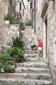 Scale strette della città vecchia, dubrovnik