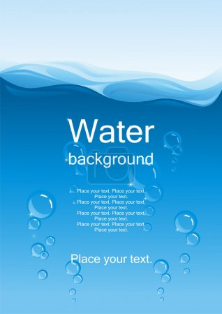 Illustration for Water background. (vector illustration) - Royalty Free Image