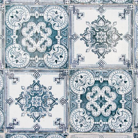 Photo for Texture from vintage azulejo tiles from Lisbon in Portugal, great for 3D texturing of objects. - Royalty Free Image