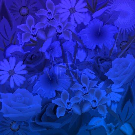 fleurs dans la nuit