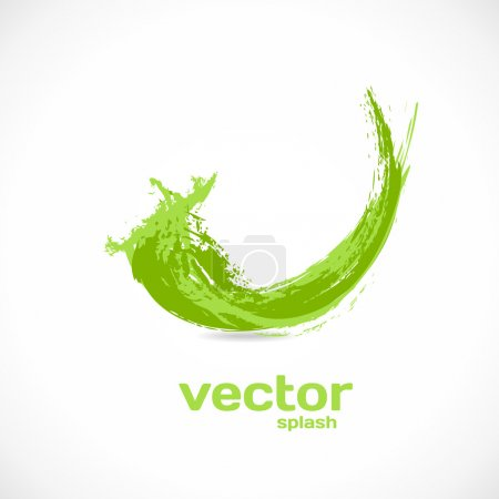Illustration pour Splash vector. vague abstrait. icône du grunge. - image libre de droit