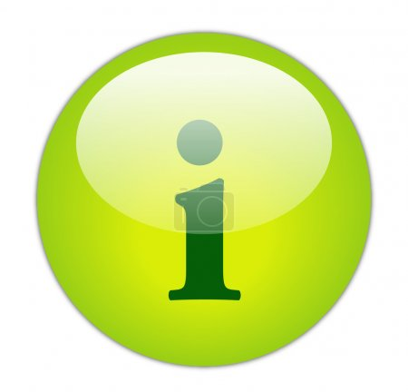 Photo for Glassy Green Information Icon Button - Royalty Free Image
