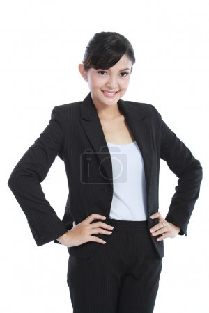 Confidence young business woman