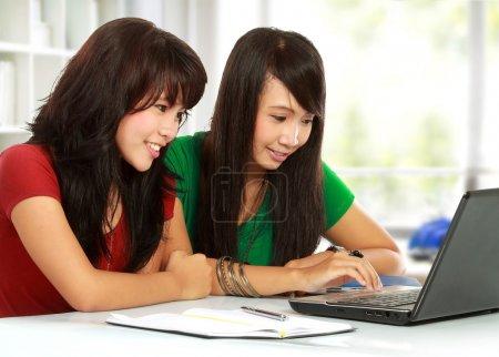 Girl browse internet