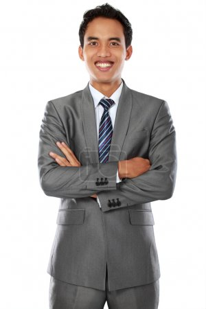 Business man with arm crossed