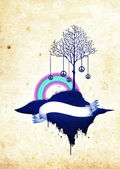 Abstract island banner