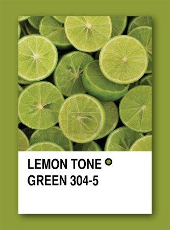 LEMON TONE GREEN. Color sample design