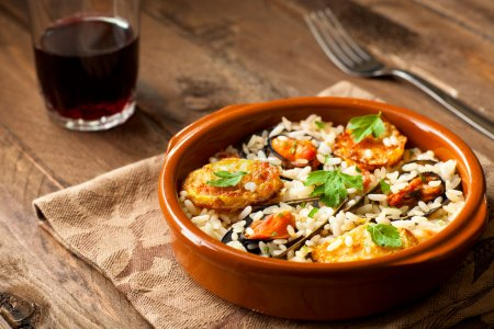 Rice with Potatoes and Mussels