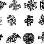 Set of Mexican Maya glyph...