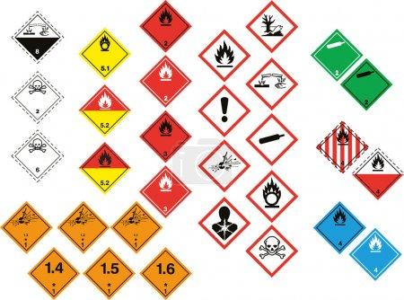 Various hazard symbols