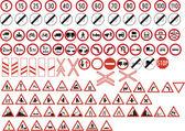 Various road signs