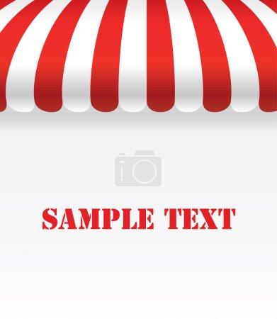 Illustration pour Auvent de magasin de bande rouge et blanc avec espace - Vector Design EPS10 - image libre de droit