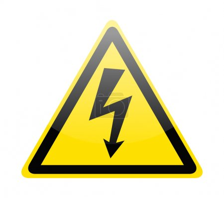 Sign of danger high voltage symbol