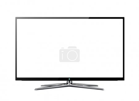 Widescreen lcd or lcd monitor isolated on white
