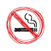 Hand drawn no smoking sign