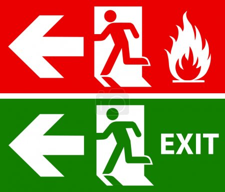 Emergency fire exit door and exit door