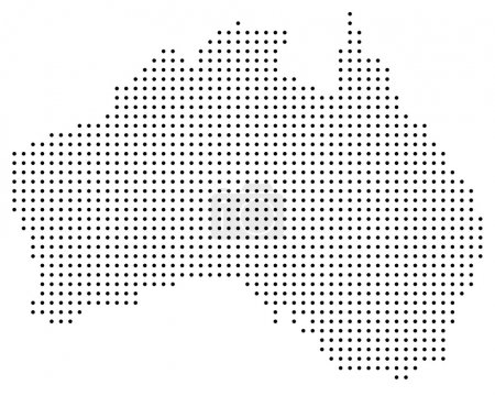 Dotted Australia map